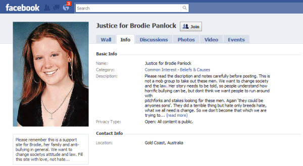 justice for brodie panlock