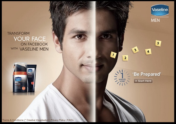Vaseline skin whitening facebook application