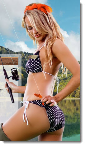 lynx fishing girl