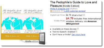 paedophile book amazon