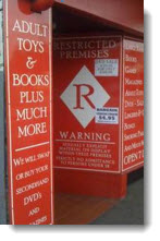 adult toys shop front