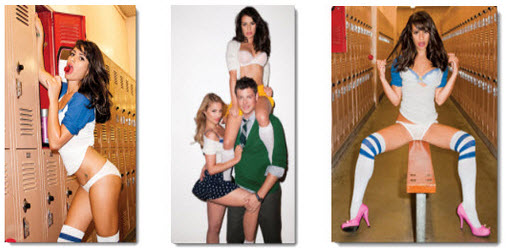 three glee pics