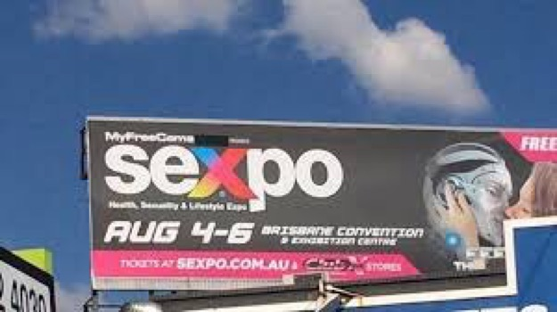 sexpo brisbane billboard